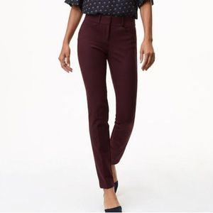[LOFT] Plum Marisa Fit Skinny Ankle Pants - Tall